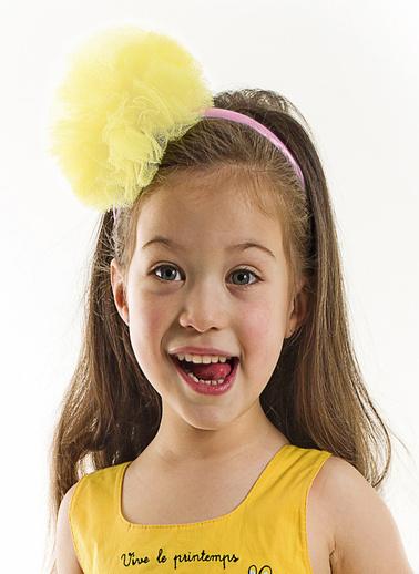 Denokids Sarı Tüllü Kız Taç Sarı